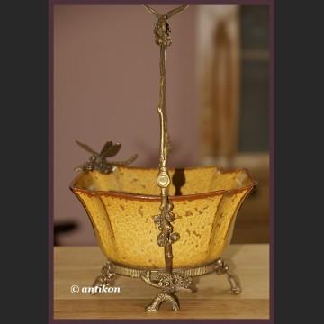 Koszyk z wazkami secesyjna porcelana