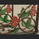 Wspornik żeliwny do półki ozdobny z winogronami komplet 2 szt.