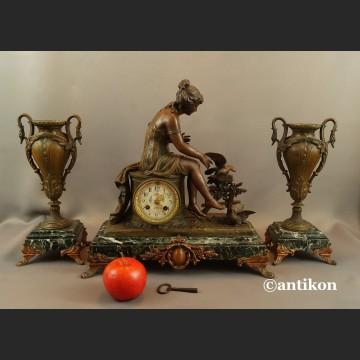 Zegar kominkowy antyk  Francja 1900r