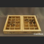 Drewniana skrzyna na herbaty vintage