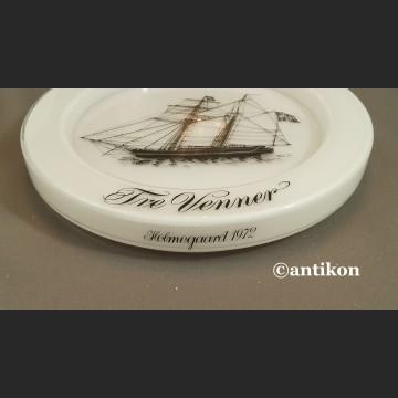 Żaglowce talerze kolekcjonerskie szklane bulaje