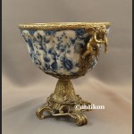 Patera porcelanowa wzór cebulowy porcelana z brązem