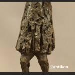 Rzeźba nowoczesna Krzyk wg. E. Munch brąz