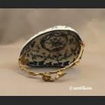 Patera koszyk  wzór cebulowy porcelana z brązem