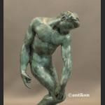 Adam A. Rodin piękny posąg z prawdziwego brązu