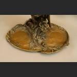 Patera secesyjna z nimfą prawdziwy brąz