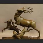 Rzeźba polowanie na jelenia prezent dla myśliwego