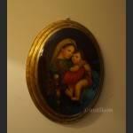 Madonna z dzieciątkiem obraz olejny religijny wg Rafarela