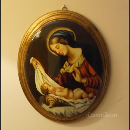 Madonna z Jezusem obraz olejny religijny wg Rafarela