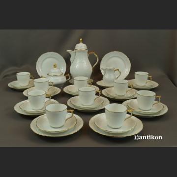 Serwis Rosenthal Sanssouci biały do kawy
