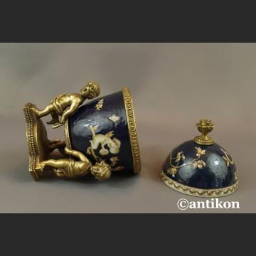 Carskie Jajo zdziećmi a la Faberge porcelanowa szkatuła