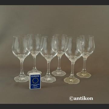 Kieliszki Rosenthal do wina luksusowy komplet stare szkło