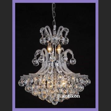 Duży pałacowy żyrandol czyste kryształy cudowny blask