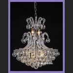 Mega pałacowy żyrandol czyste kryształy cudowny