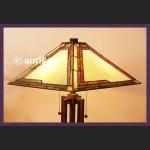 ELEGANCKA DUŻA LAMPA TIFFANY ŚLICZNA WITRAŻOWA ART DECO