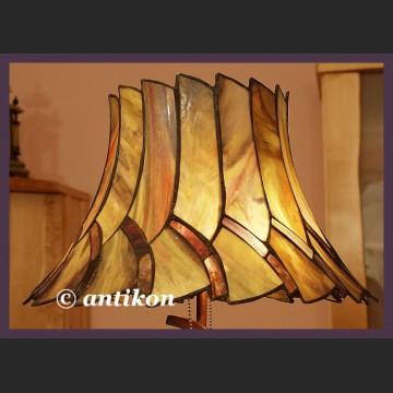 Zachwycająca witrażowa lampa Tiffany ogromna Art Deco