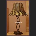 OGROMNA LAMPA TIFFANY WITRAŻOWA ART DECO