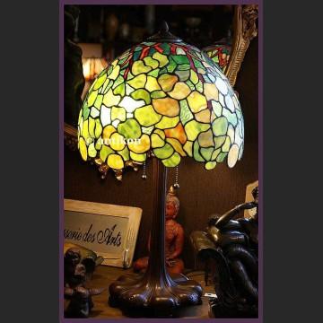 PAŁACOWA ŚLICZNA WITRAŻOWA LAMPA TIFFANY
