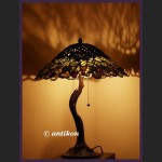 WSPANIAŁA PRZEOGROMNA LAMPA TIFFANY AŻUROWA JEDYNA