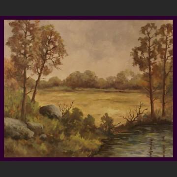 Obraz olejny impresja Jesienna polana