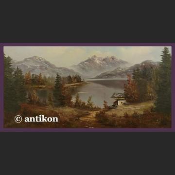 Obraz olejny na płótnie Pejzaż aukcyjny malarz