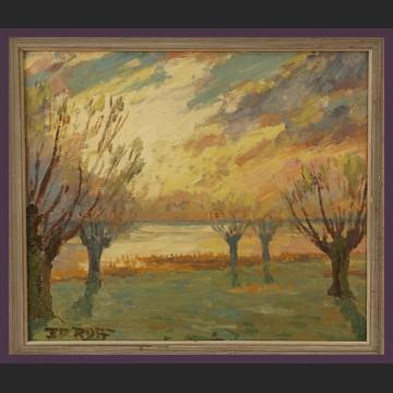 Obraz olejny Wschód słońca impresja
