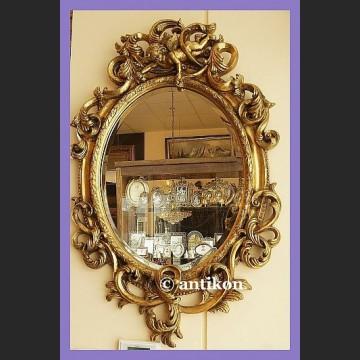 Stylowe lustro z amorem barokowa złocona rama duże