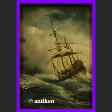 Obraz olejny Nokturn okręt na morzu piękna marynistyka
