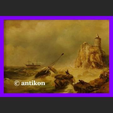 Obraz olejny Rozbitkowie przy latarni holender