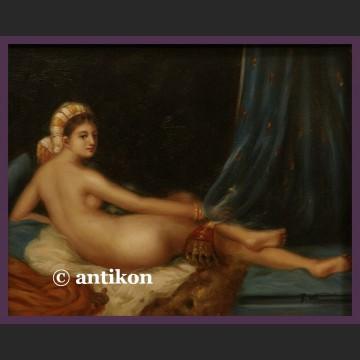 Obraz olejny Odaliska wg Ingres w pięknej ramie
