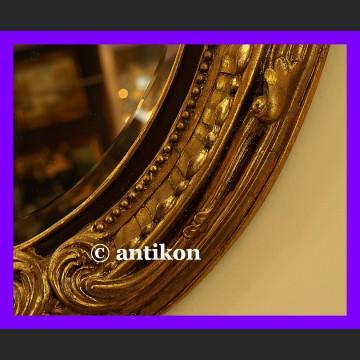 Stylowe lustro duże w złoconej grubej ramie owal