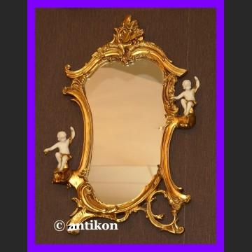 Rokoko lustro prawe i lewe, piękne lustro z alabastrem