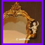 Komplet 2 barokowych luster. Lustro z alabastrem