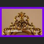 Stylowe barokowe lustro w złoconej ramie