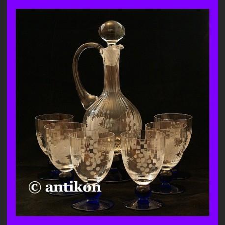 Karafka kieliszki zestaw do wina lub nalewek