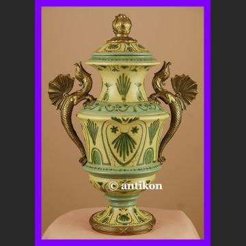 Wielki piękny wazon ze smokami empirowy