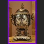Jajo a la Faberge ogromne pałacowe porcelana z brązem