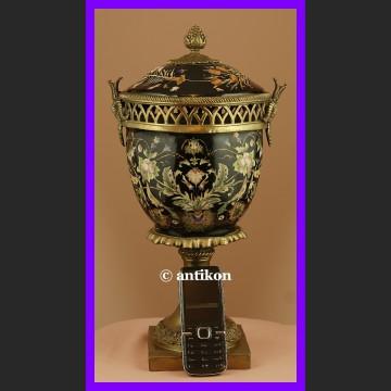 Ręcznie malowana królewska pot poturri z brązem