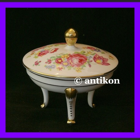 Francuska szkatułka na biżuterię porcelanowe cacko