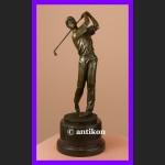Golf duża rzeźba piękny brąz Golfista