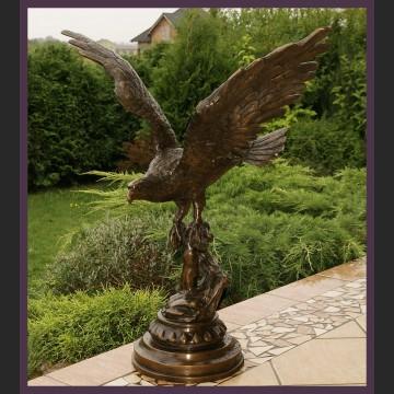 Fenomenalny orzeł olbrzymi outdoorowy brąz salonowa rzeźba