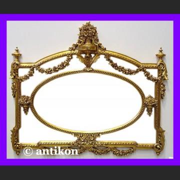Stylowe lustro pałacowe francuskie ogromne złocona rama