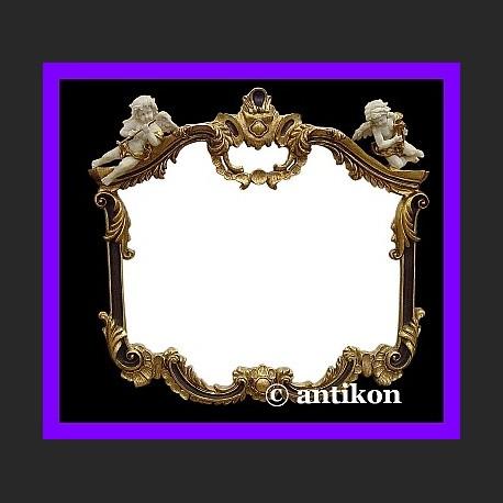 Stylowe lustro z aniołkami złocona rama