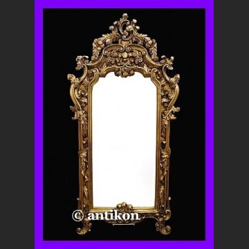 Stylowe ogromne prestiżowe lustro Francja cudna złota rama