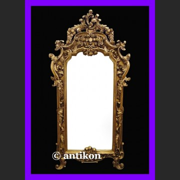 Olbrzymie stylowe francuskie lustro ozdobna złota rama pałacowe