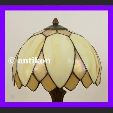 Witrażowa lampa Tiffany urocza klasyk lampka średniej wielkości