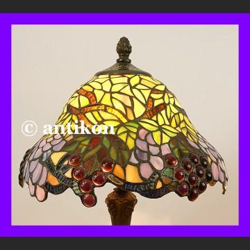 Lampa witrażowa Tiffany piękna winogronowa