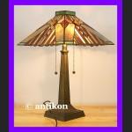 Niespotykana duża lampa Tiffany z kaboszonami