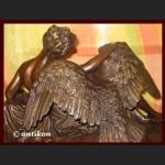 Leda i łabędź wielka rzeźba z brązu Zeus mitologia