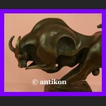 Rzeźba BYK z brązu piękny modernistyczny duży symbol hossy
